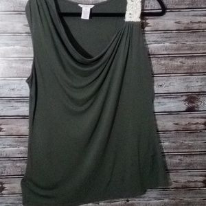 CANDIES OLIVE GREEN TOP SIZE XL